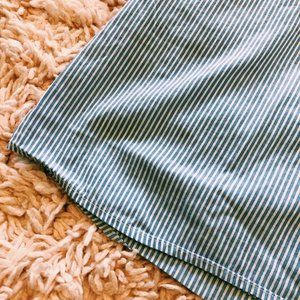 Zara Dresses - Zara Blue & White Striped Off-The-Shoulder Dress